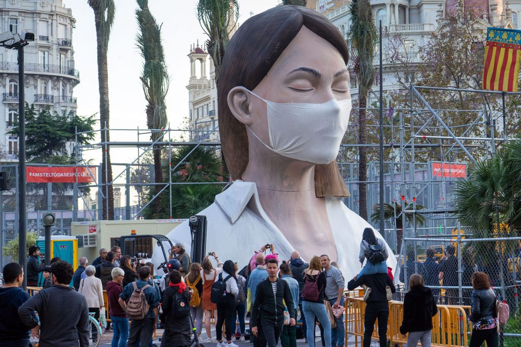 Wear A Mask Like ESCIF Fallas Figure
