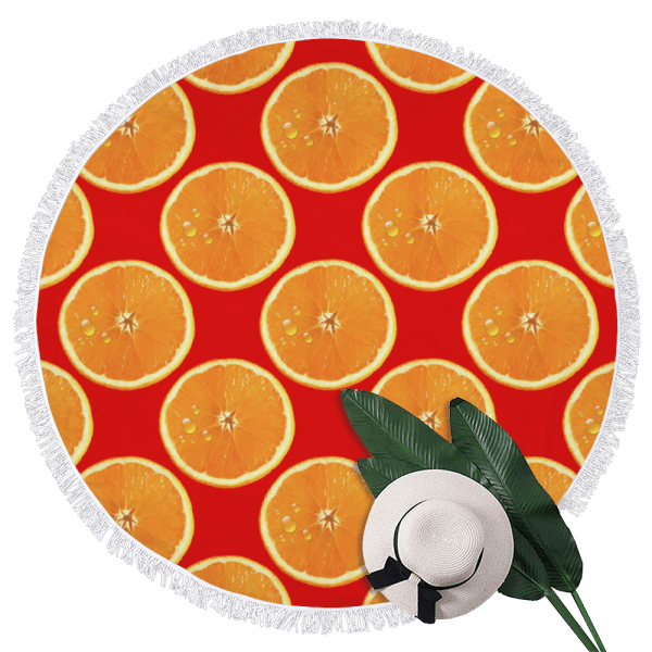 Sangria Oranges Beach Towel